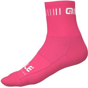Alé Cycling Strada Cykelstrømper 12cm pink/hvid
